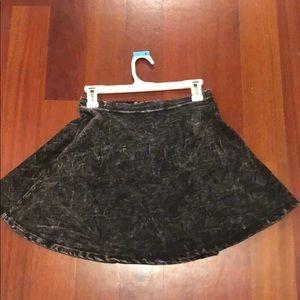 Milkyway (Nasty Gal) acid wash denim skater skirt